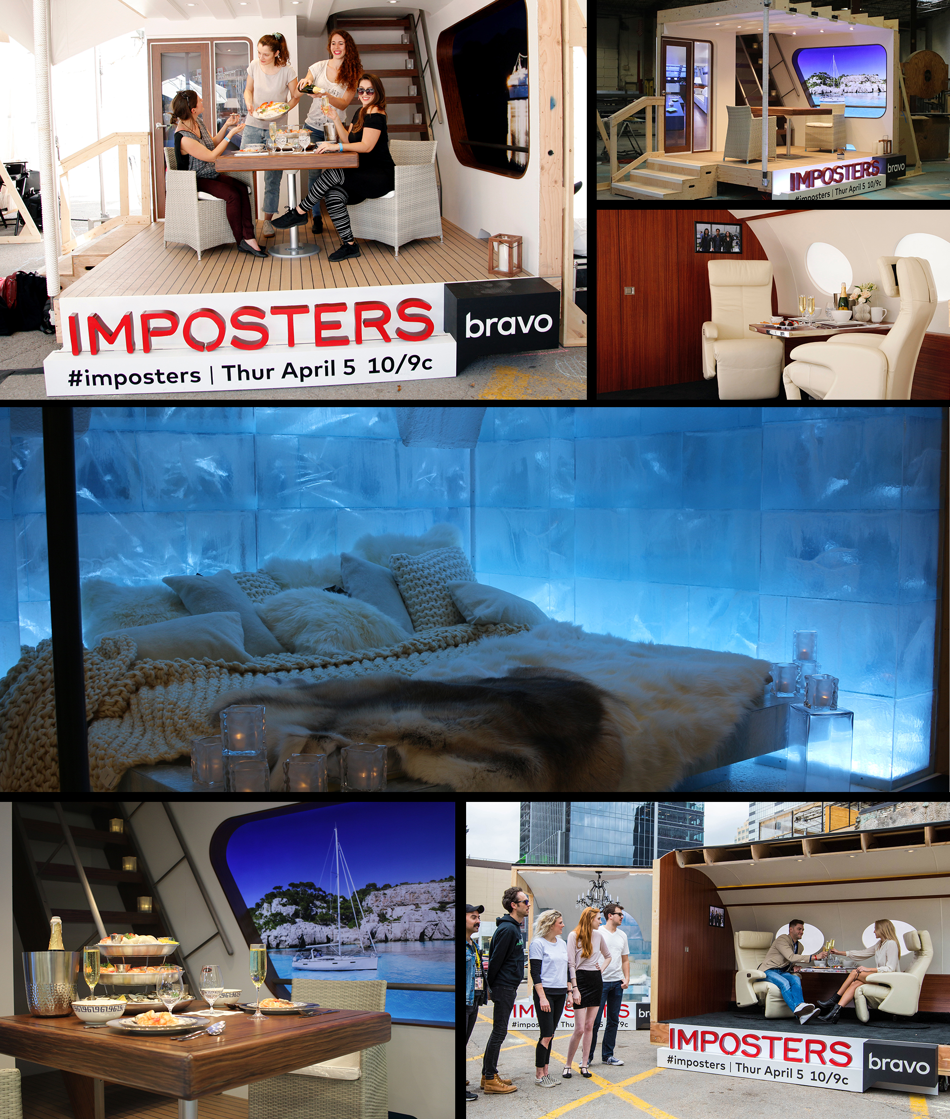 Marketing Activation Fabrication for SXSW - Bravo Imposters