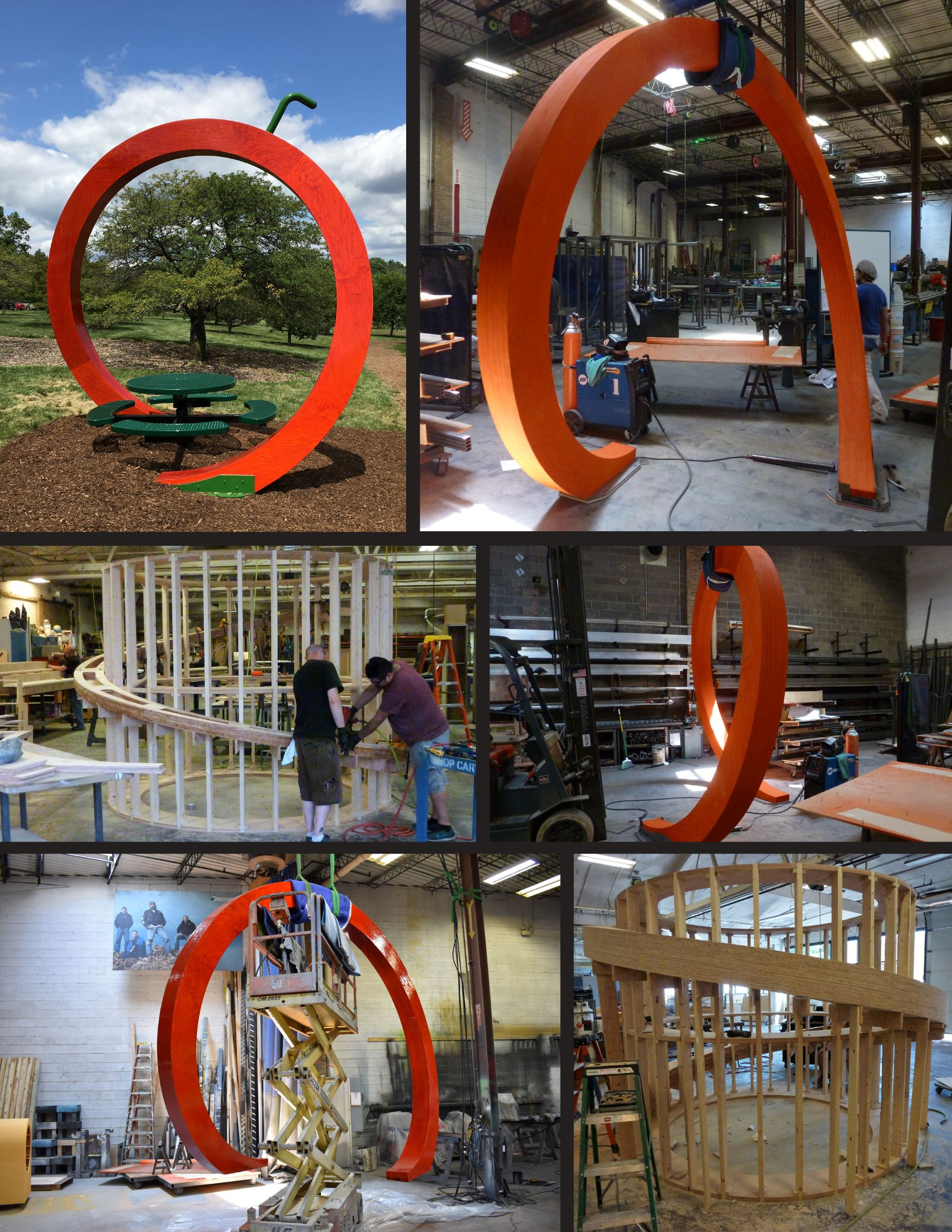 Custom Woodworking and Fabrication of the Crab Apple Sculpture at Morton Arboretum