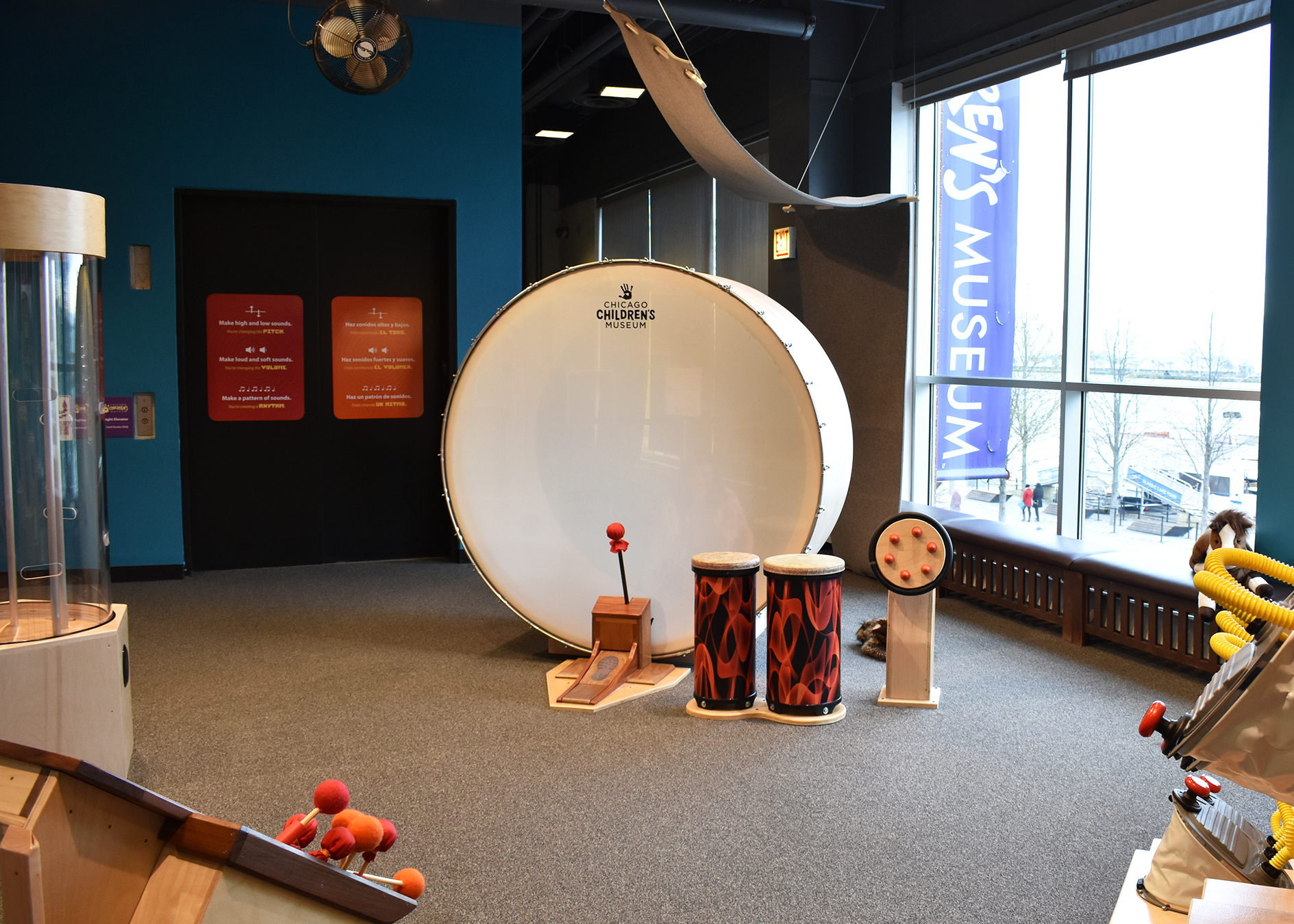 Children's Museum Exhibit Fabrication - Sound Playground - Chicago Children's Museum